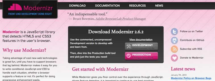 Что такое Modernizr  и  как с ним работать